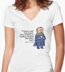 "Ulysses S. Grant, ""Yankee Doodle"" Women's Fitted V-Neck T-Shirt"