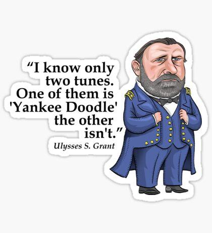 "Ulysses S. Grant, ""Yankee Doodle"" Sticker"