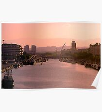 Pescara at sunset - Italy Poster