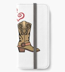 Cowboy Boots and Cowgirl Boots Illustrated Shirt iPhone Wallet/Case/Skin