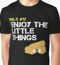Zombie Survival Rule #32 Enjoy The Little Things Graphic T-Shirt