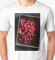 Raspberry in wooden box T-Shirt