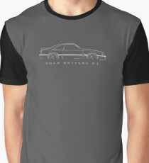 Ford Mustang (fox body) - profile stencil, white Graphic T-Shirt