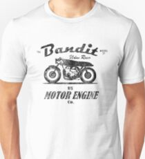 The Bandit Retro Motorcycle T-Shirt Unisex T-Shirt