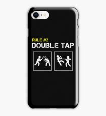 Zombie Survival Rule #2 Double Tap iPhone Case/Skin