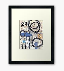Mixed media collage vintage papers 23 Framed Print