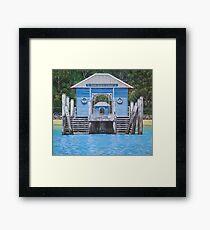Palm Beach Wharf II Framed Print
