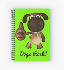Thumbs up! Dogs Rock Unique Gifts Spiral Notebook