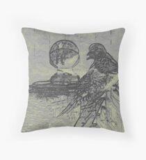 Digital Dove Throw Pillow