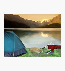 Corky's camping Photographic Print