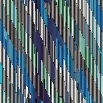 Abstract diagonal ornament of strokes by Nata-V