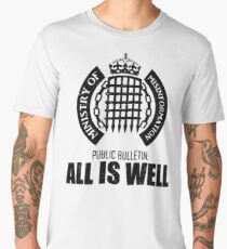 Ministry of Misinformation: All is Well - Funny Political T-shirt Men's Premium T-Shirt
