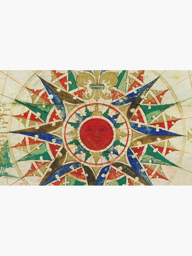 Vintage Compass Rose Diagram (1502) by BravuraMedia