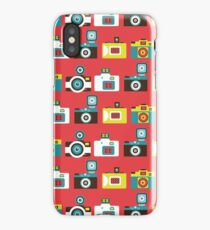 Colorful Toy Cameras Pattern iPhone Case/Skin