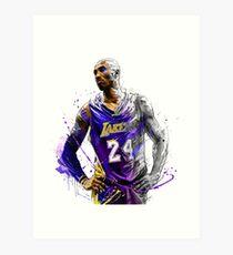 Kobe Bryant - Los Angeles Lakers  Art Print