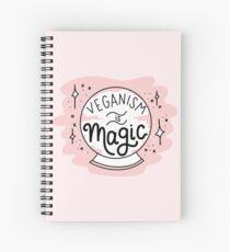 VEGANISM IS MAGIC Spiral Notebook