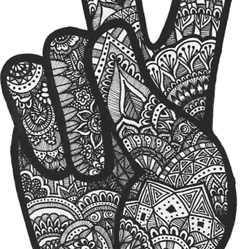 Black & White Peace Sign by FortuneCookieTs