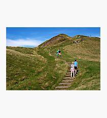 Walking Up Mam Tor Photographic Print