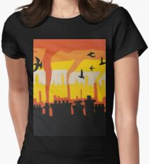Birds in the City Womens Fitted T-Shirt