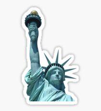 America Statue of Liberty in Blue Sky Sticker