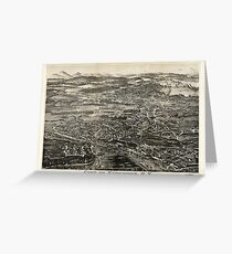 Aerial View of Kingston, New York (1875) Greeting Card