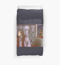 Elrond and Elros Greek Mythology Style Mosaic Duvet Cover