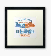 Fill The Thrill Bonneville Framed Print