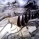 "Lady in a Landscape by Belinda ""BillyLee"" NYE (Printmaker)"