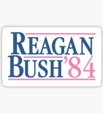 Reagan and Bush Election of '84 Sticker
