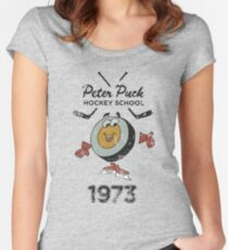 Peter Puck School of Hockey Women's Fitted Scoop T-Shirt