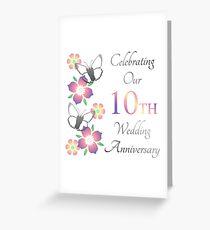 Elegant 10th Anniversary Greeting Card