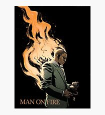 MAN ON FIRE Photographic Print