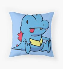 Derp Totodile Throw Pillow