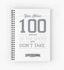 Wayne Gretzky type poster Spiral Notebook