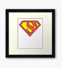 SysAdmin Super Hero Framed Print