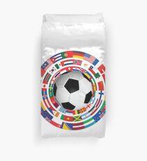 Weltflagge Fußball Fußball Cup-Sammlung Bettbezug