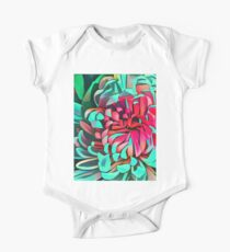 Bright Abstract Flower Print Kids Clothes