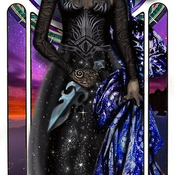 High Lady Feyre Tarot Card Style by Grinningartist