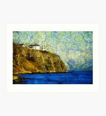 Starry Blackhead Lighthouse Art Print