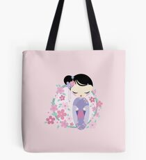 kokeshi flower girl Tote Bag