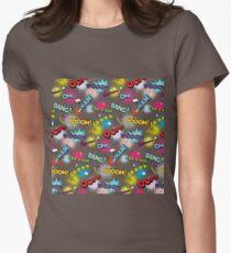 Pop art explosion Womens Fitted T-Shirt