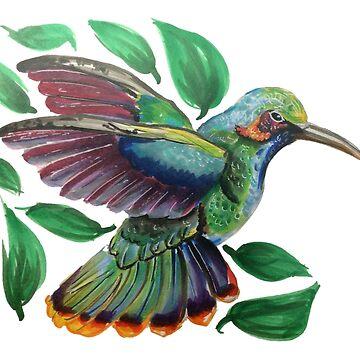 Colorful Hummingbird by sinamonroll