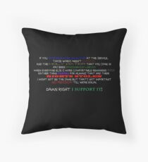Macklemore & Ryan Lewis Same Love black Throw Pillow