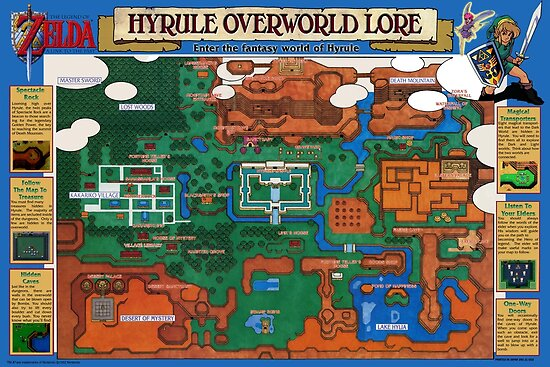 1992 legendo of zelda hyrule map rare completely remastered 1992 legendo of zelda hyrule map rare completely remastered by 7hunters gumiabroncs Images