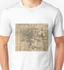 Vintage Map of Denver Colorado (1888) T-Shirt