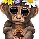 Niedlicher Baby Affe Hippie von jeff bartels