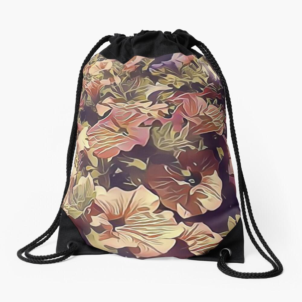 New Flowers, New Hopes Drawstring Bag