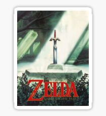 The Legend of Zelda, A Link To The Past - Sword in Stone Poster Recreated Sticker