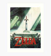 Die Legende von Zelda, ein Link zur Vergangenheit - Schwert in Stein Poster neu erstellt Kunstdruck