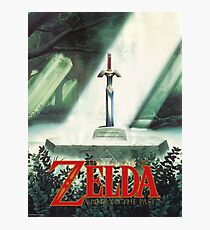 The Legend of Zelda, A Link To The Past - Sword in Stone Poster Recreated Photographic Print